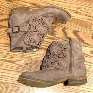 """Adorable Lace front booties - brand is """"Not Rated"""""""